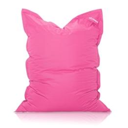 Livodoo® XXL-Premium-Riesen-Sitzsack Pink Rosa 140x180cm 12 verschiedene Farben 400l-Füllung-Sitzsack-Indoor-Outdoor mit Innensack Sitzkissen Bodenkissen Kissen Sessel BeanBag -