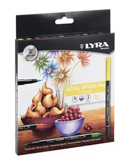 LYRA 6521120 Aqua Brush Duo Pinselmaler, Fasermaler, farbig sortiert, 23 x 1,7 x 17,4 cm -