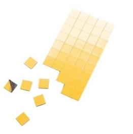 Magnet-Plättchen 100 Stück - selbstklebend - 20 mm x 20 mm - Stärke: 1,2 mm - schwarz - TimeTex 93290 - selbstklebende Magnetplättchen - Magnete -