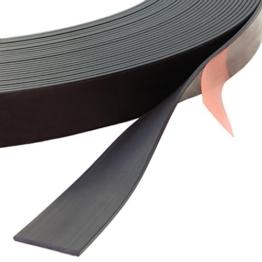Magnetband selbstklebend, verschiedene Abmessungen wählbar / 3 m auf Rolle, 12,7 mm Breite x 1,5 mm Dicke -