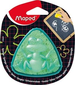 Maped M258600 - Tafelschwamm Sponge Box, dreieckige Form, grün/gelb -