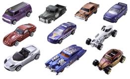 Mattel 54886 Hot Wheels Fahrzeuge 10er Geschenkset, 38 x 28 x 21 cm, farblich sortiert -