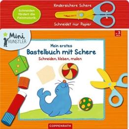 Mein erstes Bastelbuch mit Schere: Schneiden, kleben, malen (Mini-Künstler) -