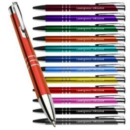 Metall - Kugelschreiber KING mit Lasergravur / Gravur 10 Stück (alle mit gleicher Gravur) -