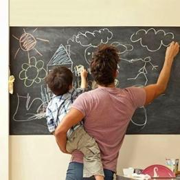 MFEIR® Tafelfolie Selbstklebend Wandtattoo kinderzimmer schwarze Tafel Aufkleber Aufklappbar Aufkleber 45 x 200cm -