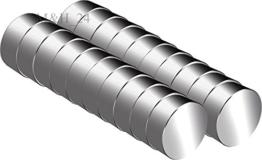 M&H-24 Mini Magnete Extra Stark, 20 Stück Neodym-Magnete für Magnettafel, Whiteboard, Kühlschrank, 6x3mm -