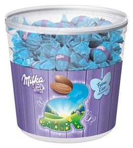 Milka Feiner Oster-Eier Alpenmilch Vorratsdose - für Büro und Zuhause, 1er Pack (1 x 900 g) -