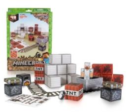 Minecraft 16713 - Papierset zum Selberbasteln, Minecart, 48 Teile -
