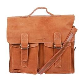 Modell Cian: XXL Leder Rau Shopper Tasche Unisex Aktentasche Lehrertasche Schultasche von Marvinia Kossberg (Mittelbraun) -