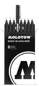 Molotow BASIC Blackliner Marker Complete Set -