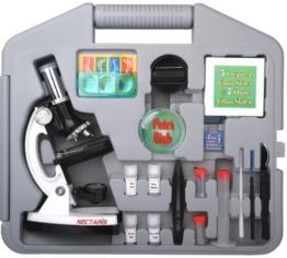 NECTARIS Biotar 900x Junior Mikroskop Schüler und Kinder Lern Set 28-teilig -