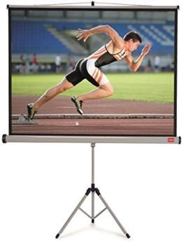 Nobo Projektionsleinwand mit Dreibeinstativ für Heimkino/Gaming/Streaming mit Stativ 4:3 Bildseitenformat (1750x1325mm) -