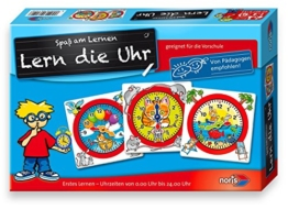 Noris Spiele 606076152 - Lern die Uhr, Kinderspiel -