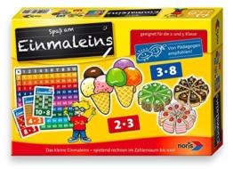 Noris Spiele 606076342 - Einmaleins (1+.2. Klasse), Kinderspiel -