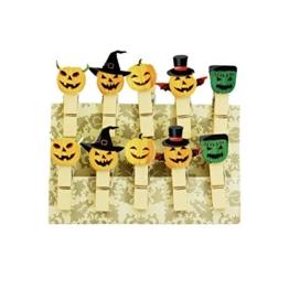 Oblique-Unique® Kleine Mini Holz Wäscheklammern Holzklammern Deko Klammern mit Motiv (Halloween) -