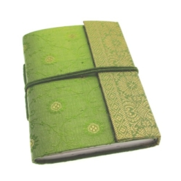 Paper High Sari Notizbuch, Gr. M, 120 x 165 mm grün -