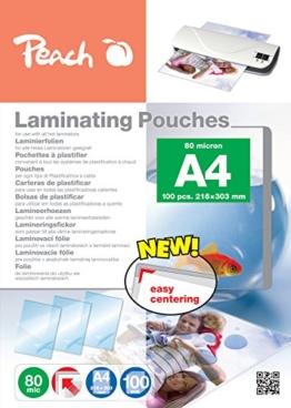 Peach PP580-02 Laminierfolien, DIN A4, 80 mikron, 100 Stück -