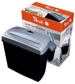 Peach PS500-15 Partikelschnitt Aktenvernichter, 5 Blatt - für anspruchsvolle Privatkunden und kleine Büros -