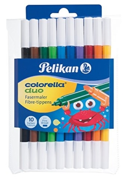 Pelikan, 10 Fasermaler Colorella Duo -