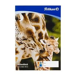 Pelikan 224840 - Zeichenblock DIN A3 20 Blatt 100gr, 1 Stück, mehrfach sortiert -