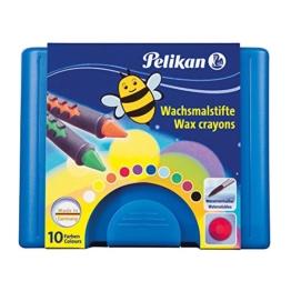Pelikan 723155 - Wachsmalstifte 655 / 10 in einer Schiebehülse, vermalbar -