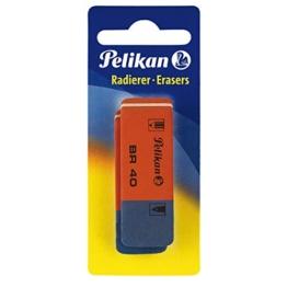 Pelikan BR40/2/B Radierer aus Kautschuk Verpackung, 2 Stück -