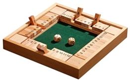 Philos 3281 - Shut The Box 12er, für 1-4 Personen, Würfelspiel, Klappenspiel -
