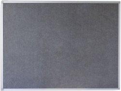 Pinnwand, Textiltafel, Filztafel grau 120x90cm -