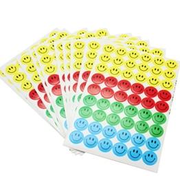 Pinzhi 10 Blatt 4-Farben-Smiley-Gesicht Belohnung Aufkleber für Eltern Lehrer fördern -