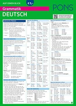 PONS Grammatik auf einen Blick Deutsch: Alle wichtigen grammatischen Themen auf einen Blick (PONS Auf einen Blick) -
