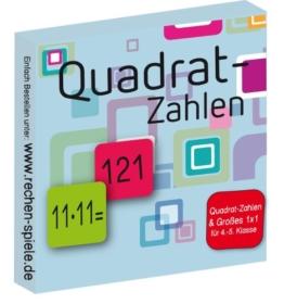 Quadrat-Zahlen & Großes 1x1, leicht lernen mit Karteikarten -