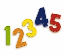 Quercetti 5463 - Magnetino magnetische Zahlen, 48 Stück -