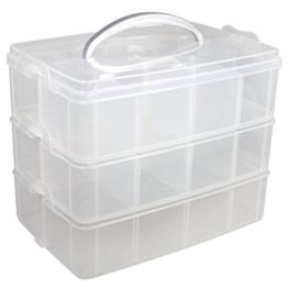 RAYHER 39320000 Sortierbox mit Tragegriff, 23,1 x 15,6 x 18,5 cm -