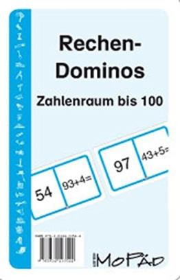 Rechen-Dominos: Zahlenraum bis 100: 1. und 2. Klasse -