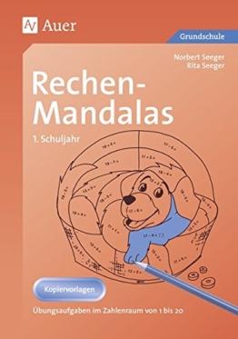 Rechen-Mandalas: Übungsaufgaben im Zahlenraum von 1 bis 20 (1. Klasse) -