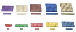 Rechenstäbchen Montessori-Material, Würfelmaterial, 100 Teile zur Freiarbeit -