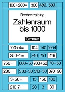Rechentraining, Zahlenraum bis 1000: -