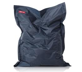 ROOMOX Original XXL Sitzsack für drinnen und draußen Stoff 160 x 120 x 30 cm, Dunkelblau -