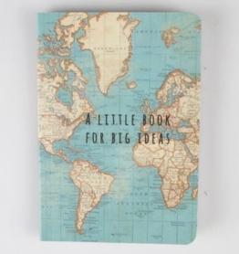 Sass & Belle Ideen-Notizbuch, Vintage-Design mit Weltkartenmotiv, mehrfarbig -