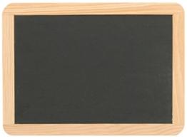 Schiefertafel ca. 22,1 x 29,9 cm mit Naturholzrahmen -