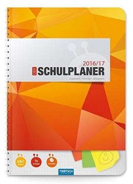 Schulplaner 2016/2017 Orange -