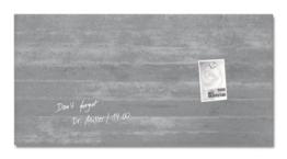 Sigel GL148 Glas-Magnetboard / Magnettafel artverum Sichtbeton, 91 x 46 cm - weitere Designs/Größen -