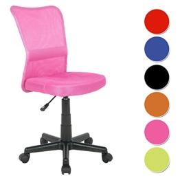 SixBros. Bürostuhl Drehstuhl Schreibtischstuhl Pink - H-298F/1412 -