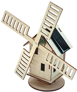 Solar-Holzwindmühle -