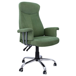 Songmics Bürostuhl Relaxstuhl mit verstellbarer Rückenlehne Samtbezug grün OBG41L -
