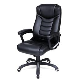 Songmics schwarz Bürostuhl Chefsessel Bürodrehstuhl hoher sitzkomfort OBG21B -
