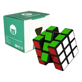 Speed Cube 3x3 - schwarz - 3x3x3 Zauberwürfel Speedcube - Cubikon Typ Cheeky Sheep -