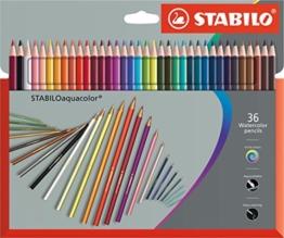 STABILO aquacolor - Aquarell-Buntstifte - 36er Set -