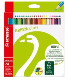 STABILO GREENcolors 24er Etui - FSC-zertifizierte Buntstifte -