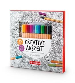 STABILO Kreative Auszeit (Malbuch für Erwachsene + 15 point 88 Fineliner) -